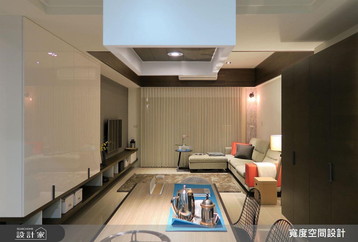 30坪新成屋(5年以下)_混搭風客廳餐廳廚房案例圖片_寬度空間設計_寬度_05之11
