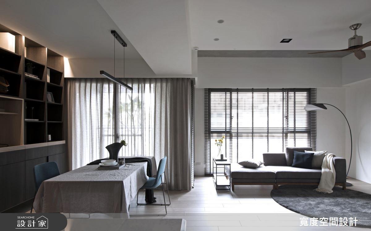 32坪預售屋_簡約風客廳餐廳工作區案例圖片_寬度空間設計_寬度_07之4