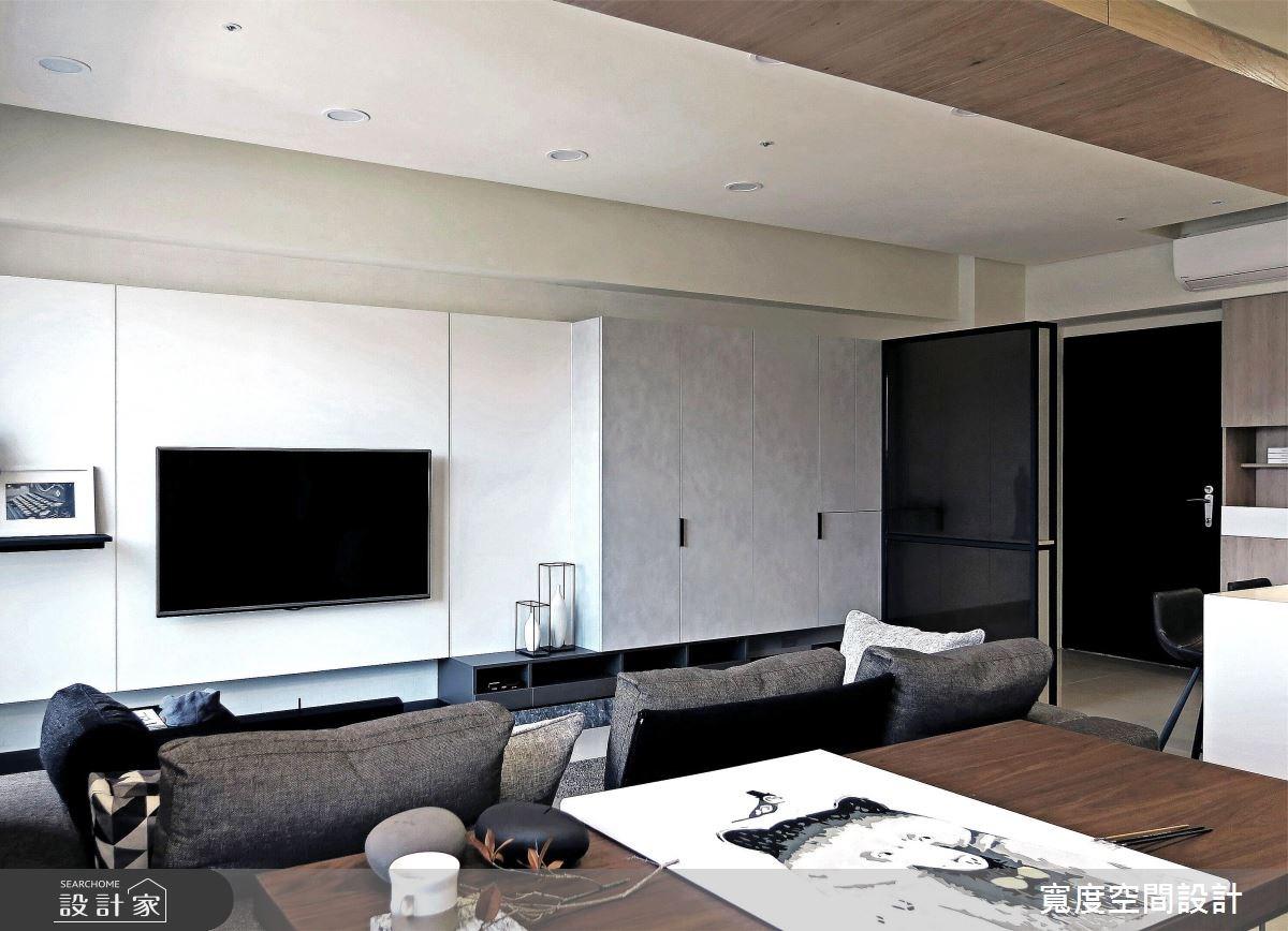 25坪新成屋(5年以下)_簡約風客廳案例圖片_寬度空間設計_寬度_08之3