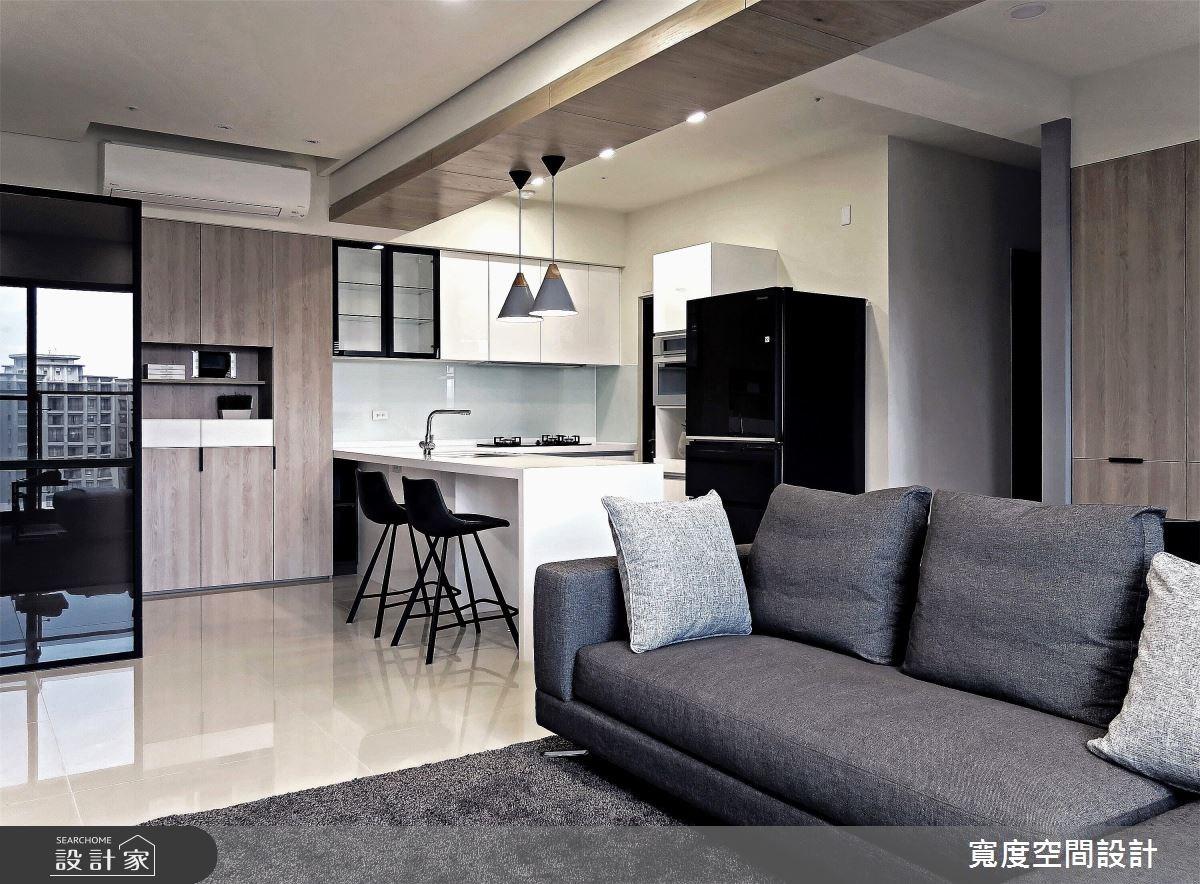 25坪新成屋(5年以下)_簡約風客廳餐廳廚房案例圖片_寬度空間設計_寬度_08之4