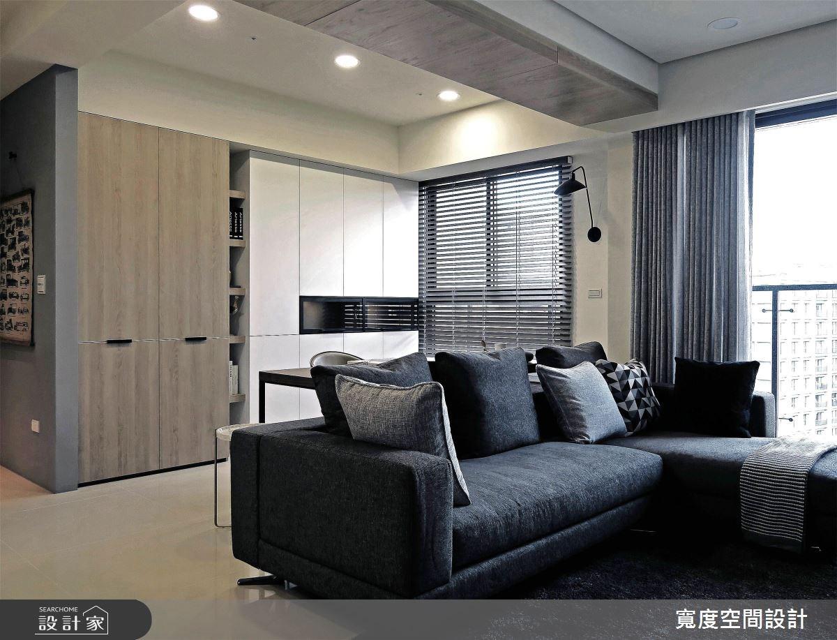 25坪新成屋(5年以下)_簡約風客廳案例圖片_寬度空間設計_寬度_08之6