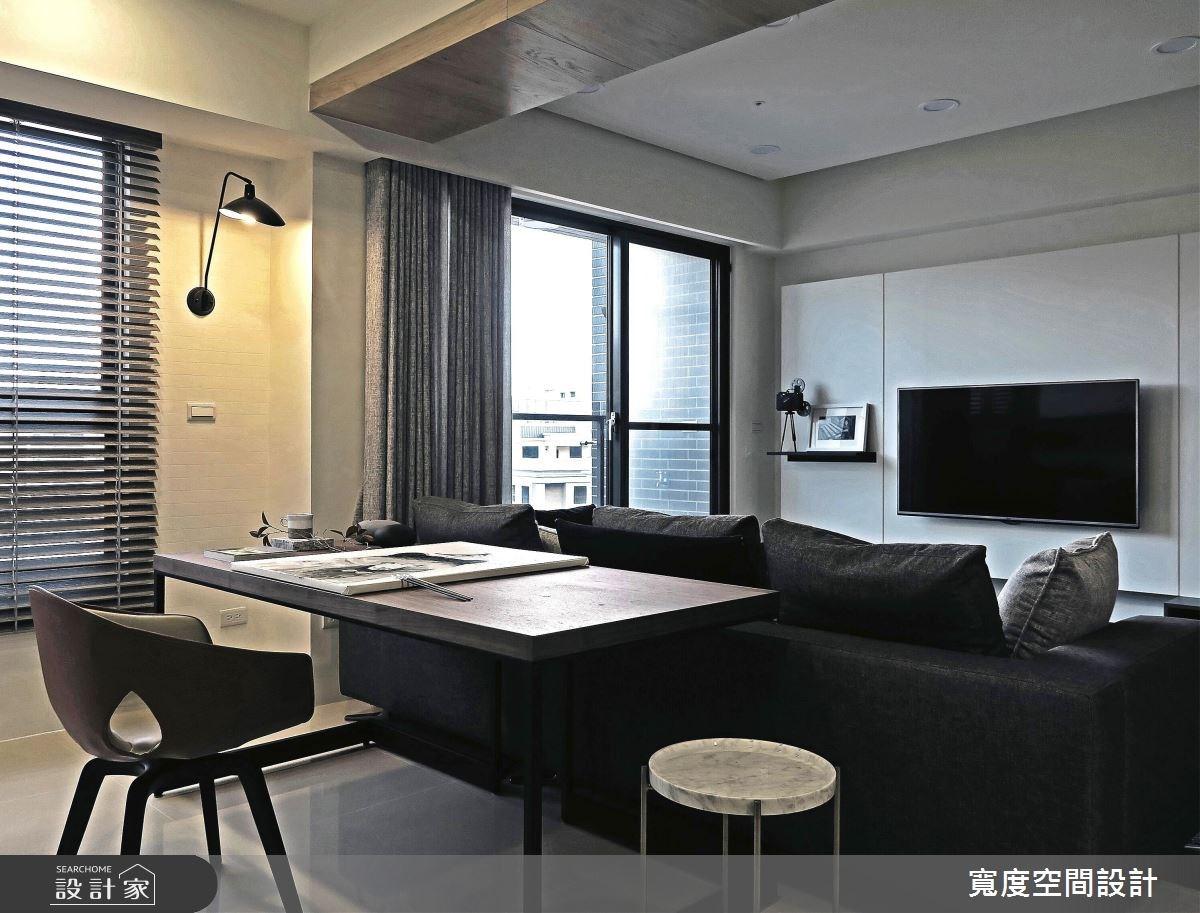 25坪新成屋(5年以下)_簡約風客廳工作區案例圖片_寬度空間設計_寬度_08之8