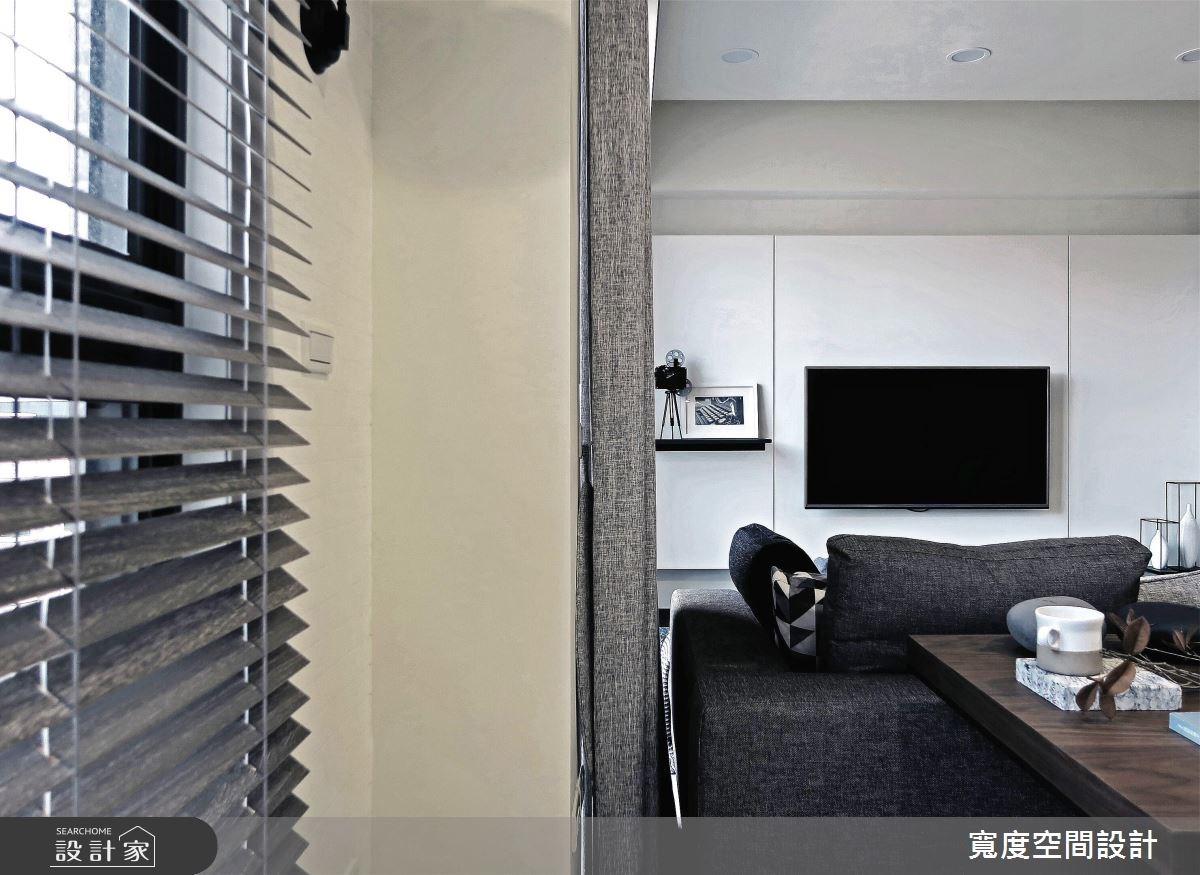 25坪新成屋(5年以下)_簡約風客廳工作區案例圖片_寬度空間設計_寬度_08之10