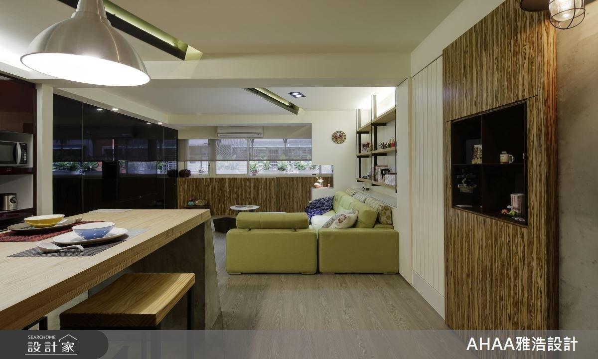 35坪老屋(16~30年)_北歐風客廳餐廳案例圖片_雅浩設計有限公司_雅浩_01之2