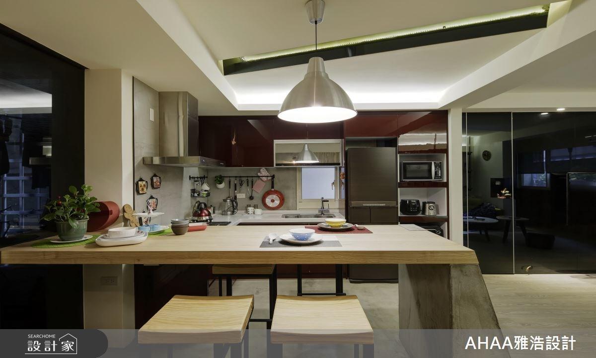 35坪老屋(16~30年)_北歐風餐廳廚房案例圖片_雅浩設計有限公司_雅浩_01之3