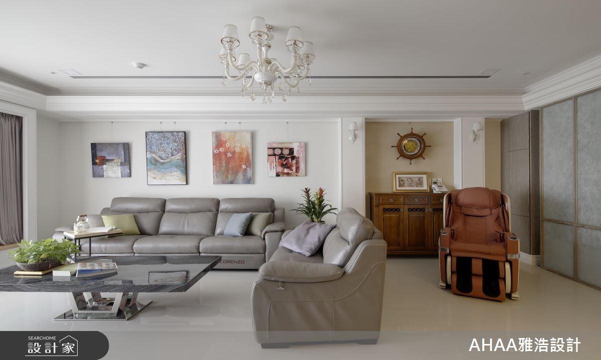 43坪新成屋(5年以下)_新古典客廳案例圖片_雅浩設計有限公司_雅浩_03之2