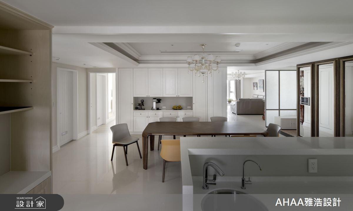 43坪新成屋(5年以下)_新古典餐廳案例圖片_雅浩設計有限公司_雅浩_03之5