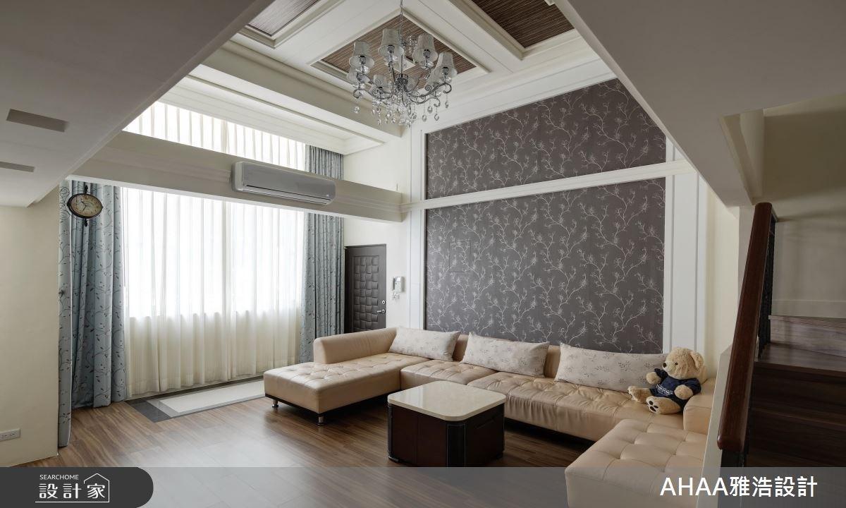 43坪老屋(16~30年)_新古典客廳樓梯案例圖片_雅浩設計有限公司_雅浩_07之2