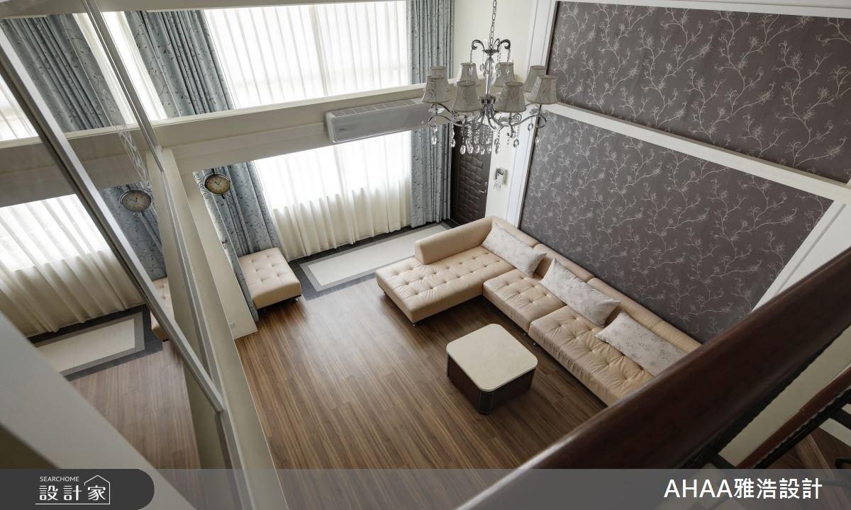43坪老屋(16~30年)_新古典客廳樓梯案例圖片_雅浩設計有限公司_雅浩_07之3