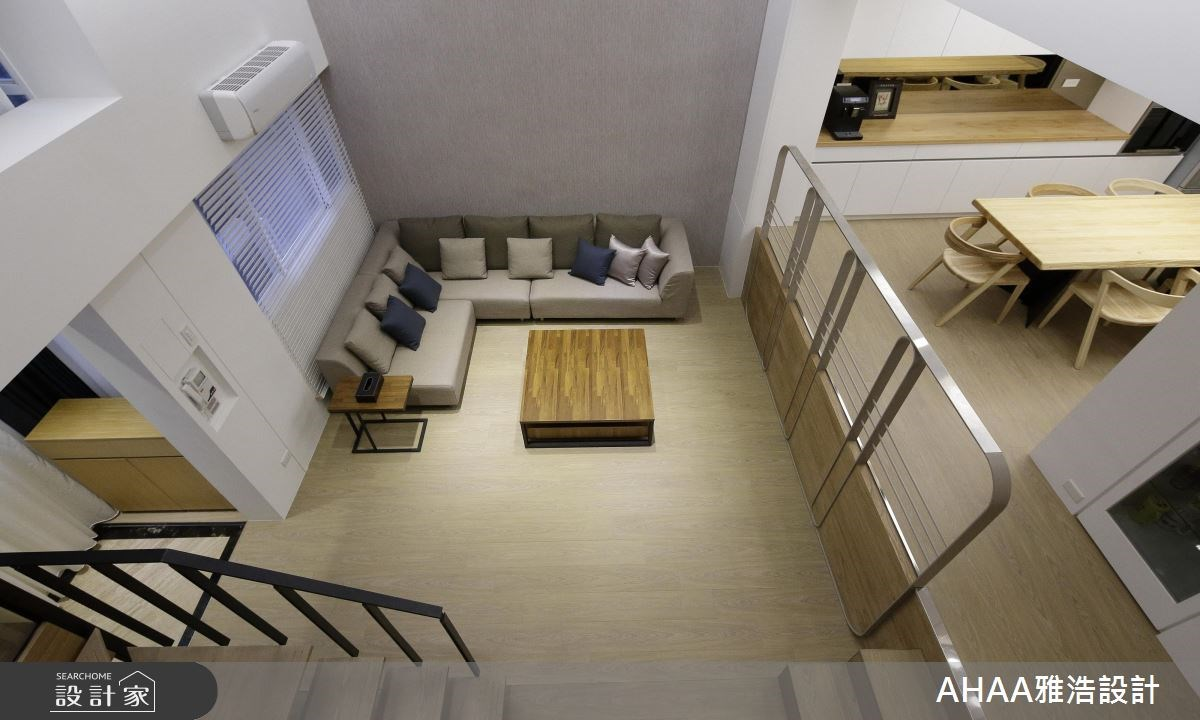46坪老屋(16~30年)_現代風玄關客廳餐廳廚房樓梯案例圖片_雅浩設計有限公司_雅浩_09之2
