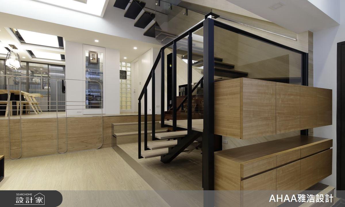 46坪老屋(16~30年)_現代風樓梯案例圖片_雅浩設計有限公司_雅浩_09之3