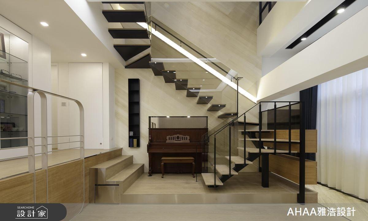 46坪老屋(16~30年)_現代風樓梯案例圖片_雅浩設計有限公司_雅浩_09之4