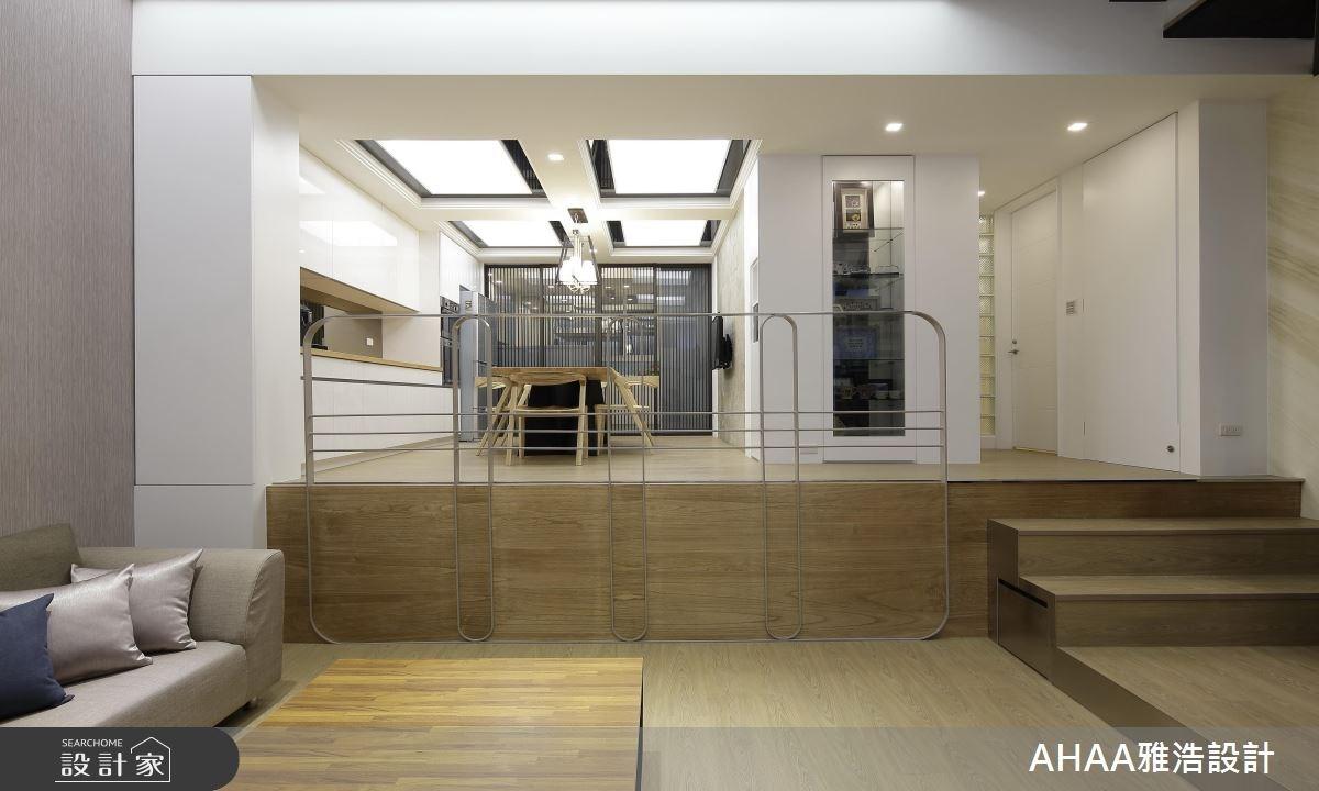 46坪老屋(16~30年)_現代風客廳餐廳廚房樓梯案例圖片_雅浩設計有限公司_雅浩_09之5
