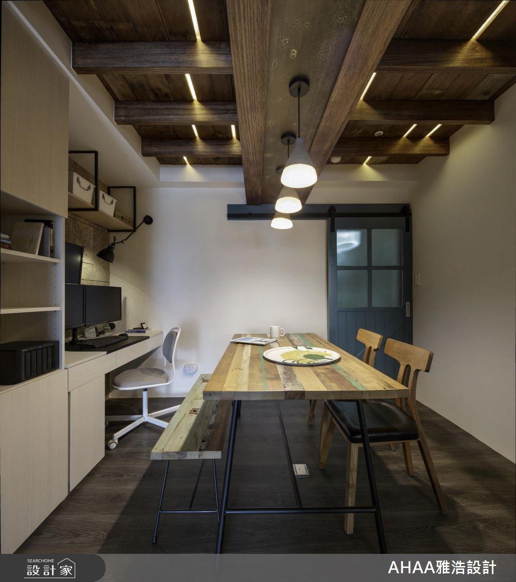 25坪中古屋(5~15年)_北歐風餐廳工作區案例圖片_雅浩設計有限公司_雅浩_11之12