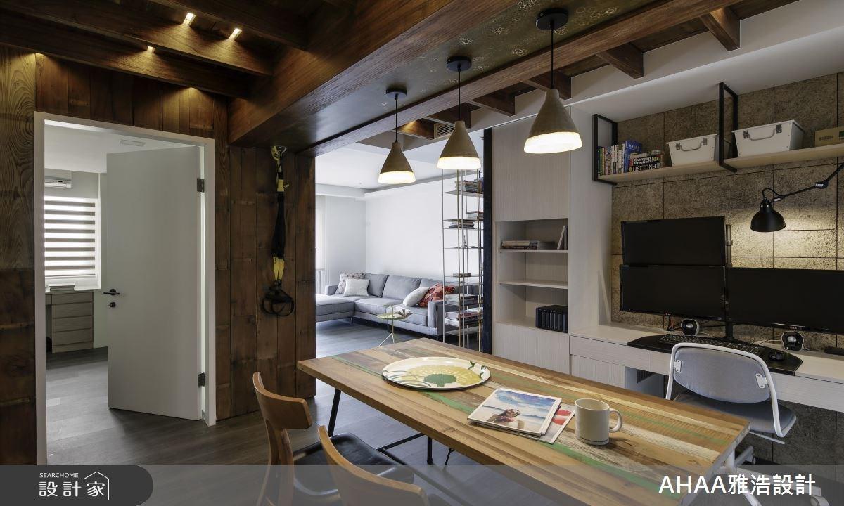 25坪中古屋(5~15年)_北歐風客廳餐廳臥室工作區案例圖片_雅浩設計有限公司_雅浩_11之13