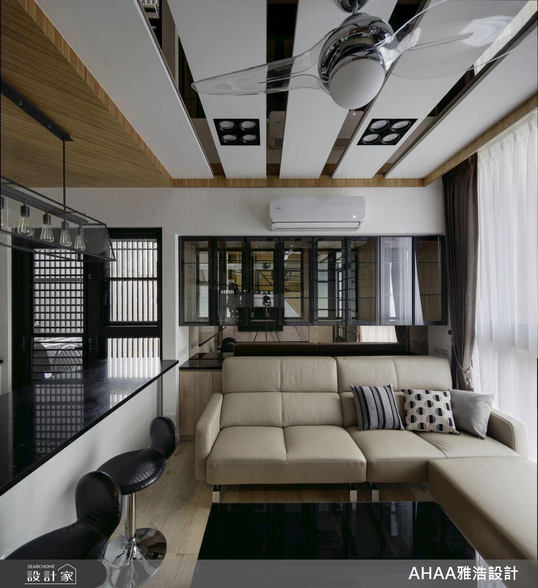 12坪新成屋(5年以下)_現代風客廳吧檯案例圖片_雅浩設計有限公司_雅浩_15之4
