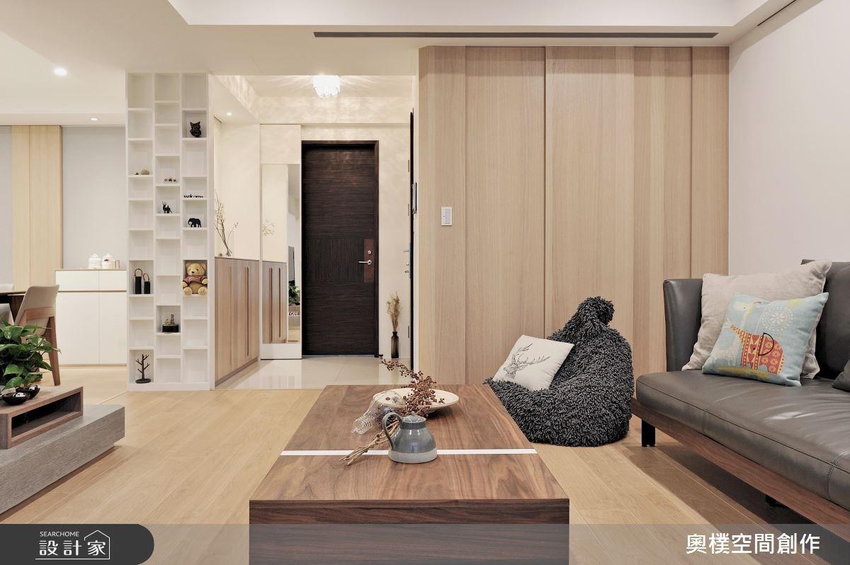 30坪新成屋(5年以下)_休閒風客廳案例圖片_奧樸空間創作有限公司_奧樸_01之3