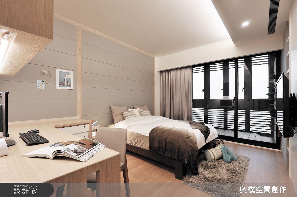 30坪新成屋(5年以下)_休閒風臥室案例圖片_奧樸空間創作有限公司_奧樸_01之10