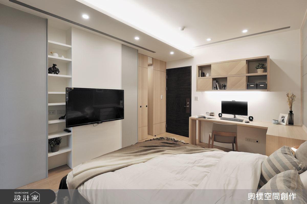 30坪新成屋(5年以下)_休閒風臥室案例圖片_奧樸空間創作有限公司_奧樸_01之11
