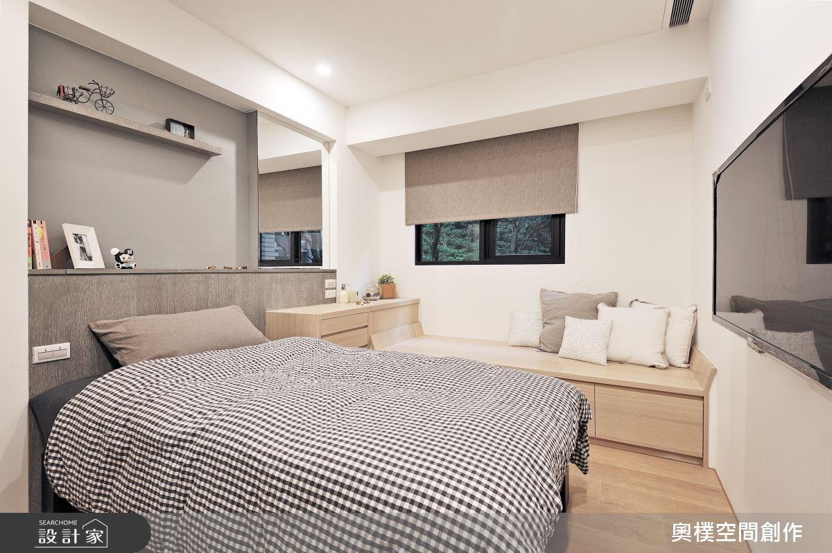 30坪新成屋(5年以下)_休閒風臥室案例圖片_奧樸空間創作有限公司_奧樸_01之13