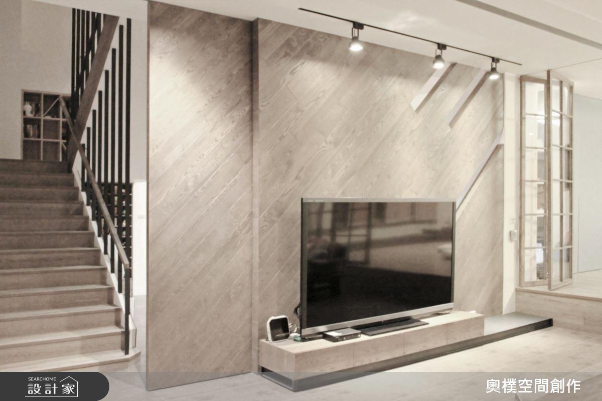 85坪新成屋(5年以下)_休閒風客廳樓梯案例圖片_奧樸空間創作有限公司_奧樸_04之3