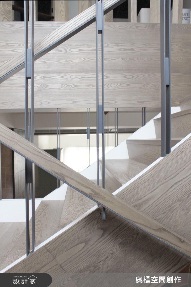 85坪新成屋(5年以下)_休閒風樓梯案例圖片_奧樸空間創作有限公司_奧樸_04之9