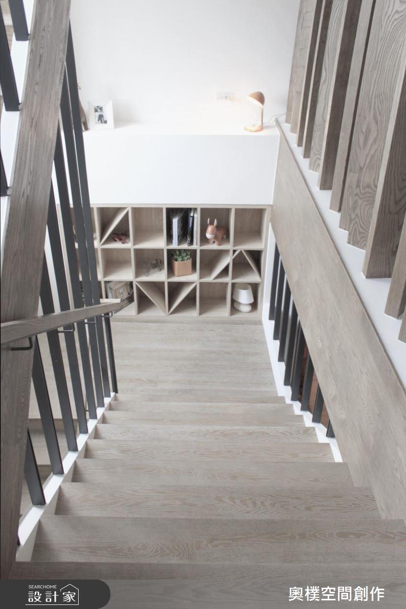 85坪新成屋(5年以下)_休閒風樓梯案例圖片_奧樸空間創作有限公司_奧樸_04之10