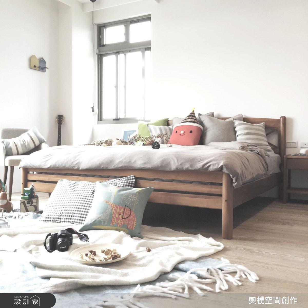 85坪新成屋(5年以下)_休閒風臥室案例圖片_奧樸空間創作有限公司_奧樸_04之16