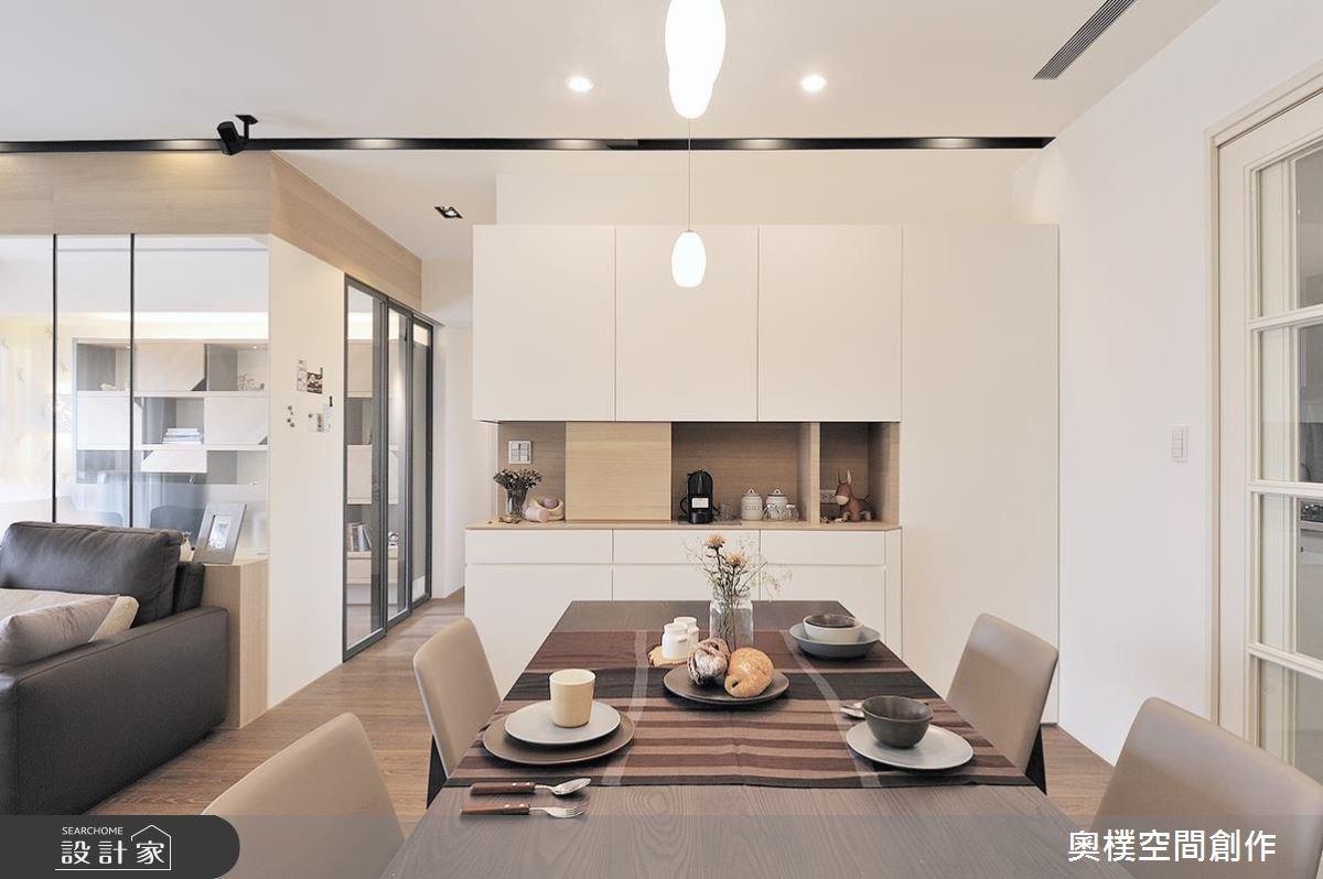 28坪新成屋(5年以下)_北歐風餐廳案例圖片_奧樸空間創作有限公司_奧樸_03之2