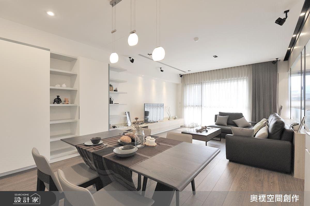 28坪新成屋(5年以下)_北歐風客廳餐廳案例圖片_奧樸空間創作有限公司_奧樸_03之3