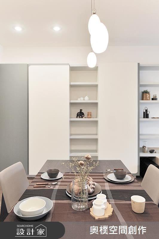 28坪新成屋(5年以下)_北歐風餐廳案例圖片_奧樸空間創作有限公司_奧樸_03之4