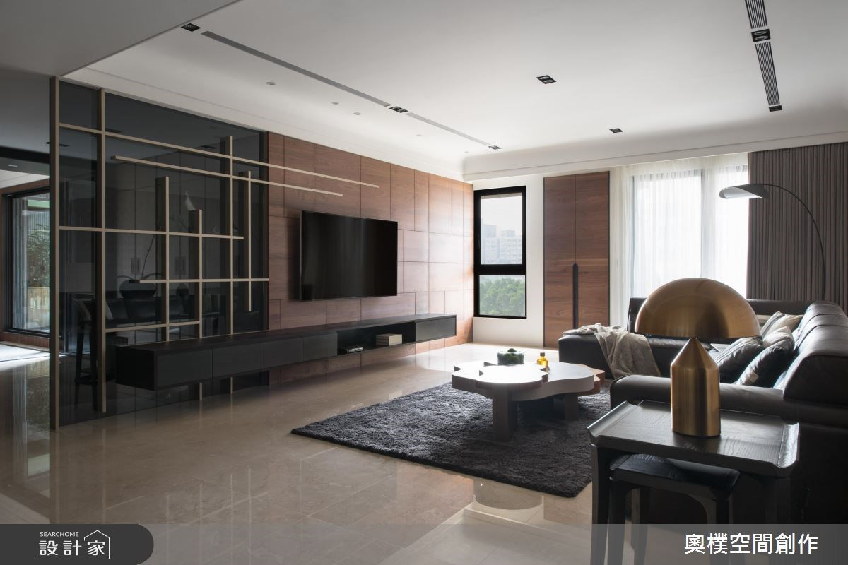 130坪預售屋_現代風客廳案例圖片_奧樸空間創作有限公司_奧樸_09之2