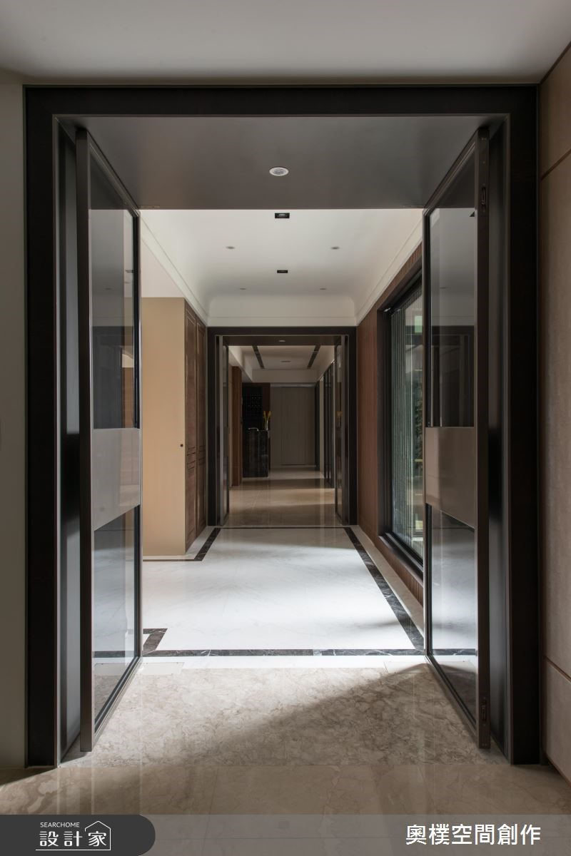 130坪預售屋_現代風走廊案例圖片_奧樸空間創作有限公司_奧樸_09之9