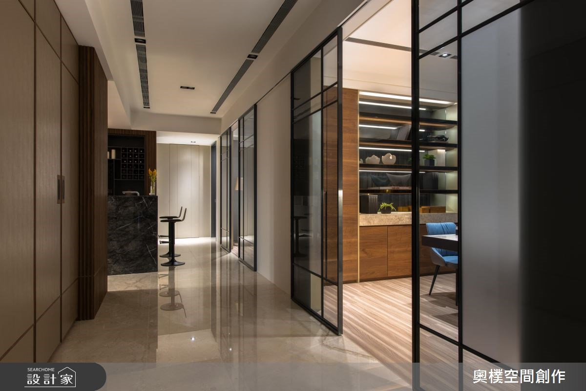 130坪預售屋_現代風走廊案例圖片_奧樸空間創作有限公司_奧樸_09之10