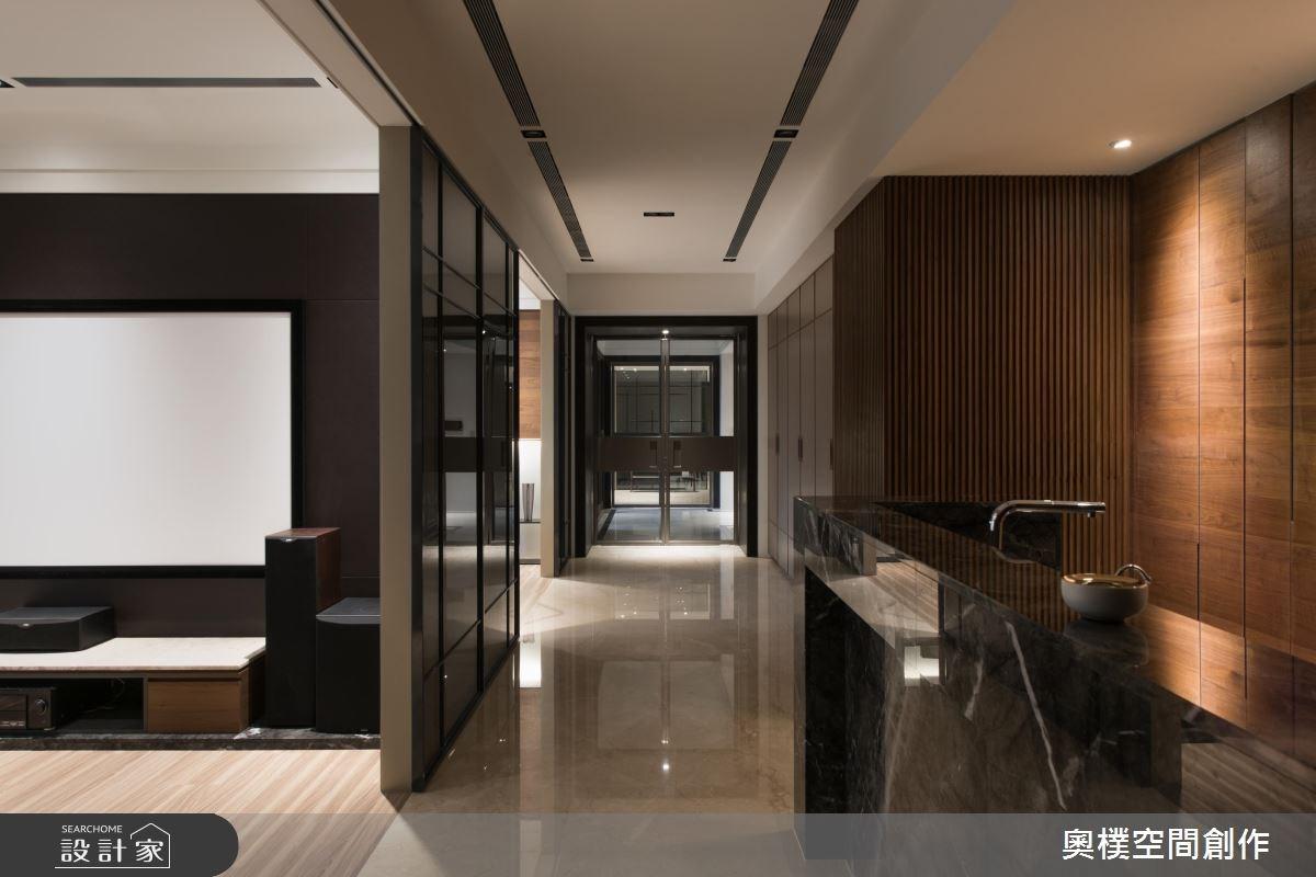 130坪預售屋_現代風吧檯走廊案例圖片_奧樸空間創作有限公司_奧樸_09之11