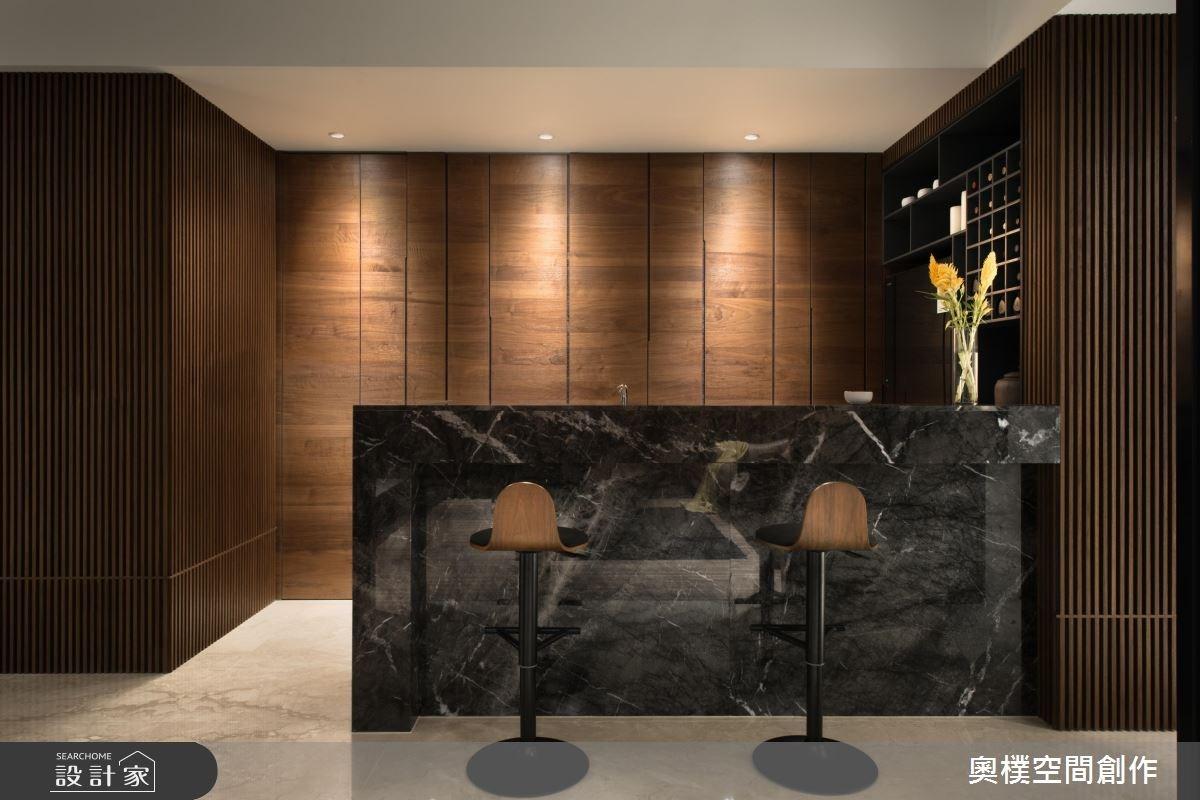 130坪預售屋_現代風吧檯案例圖片_奧樸空間創作有限公司_奧樸_09之12