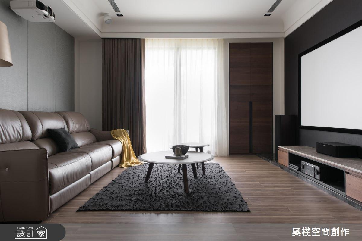130坪預售屋_現代風客廳案例圖片_奧樸空間創作有限公司_奧樸_09之16