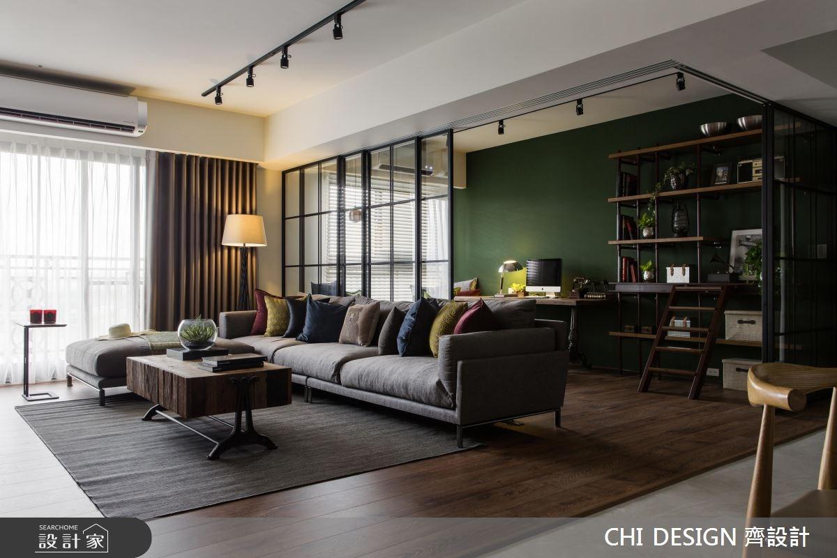 40坪新成屋(5年以下)_混搭風客廳工作區案例圖片_CHI DESIGN 齊設計_CHI DESIGN_09之7
