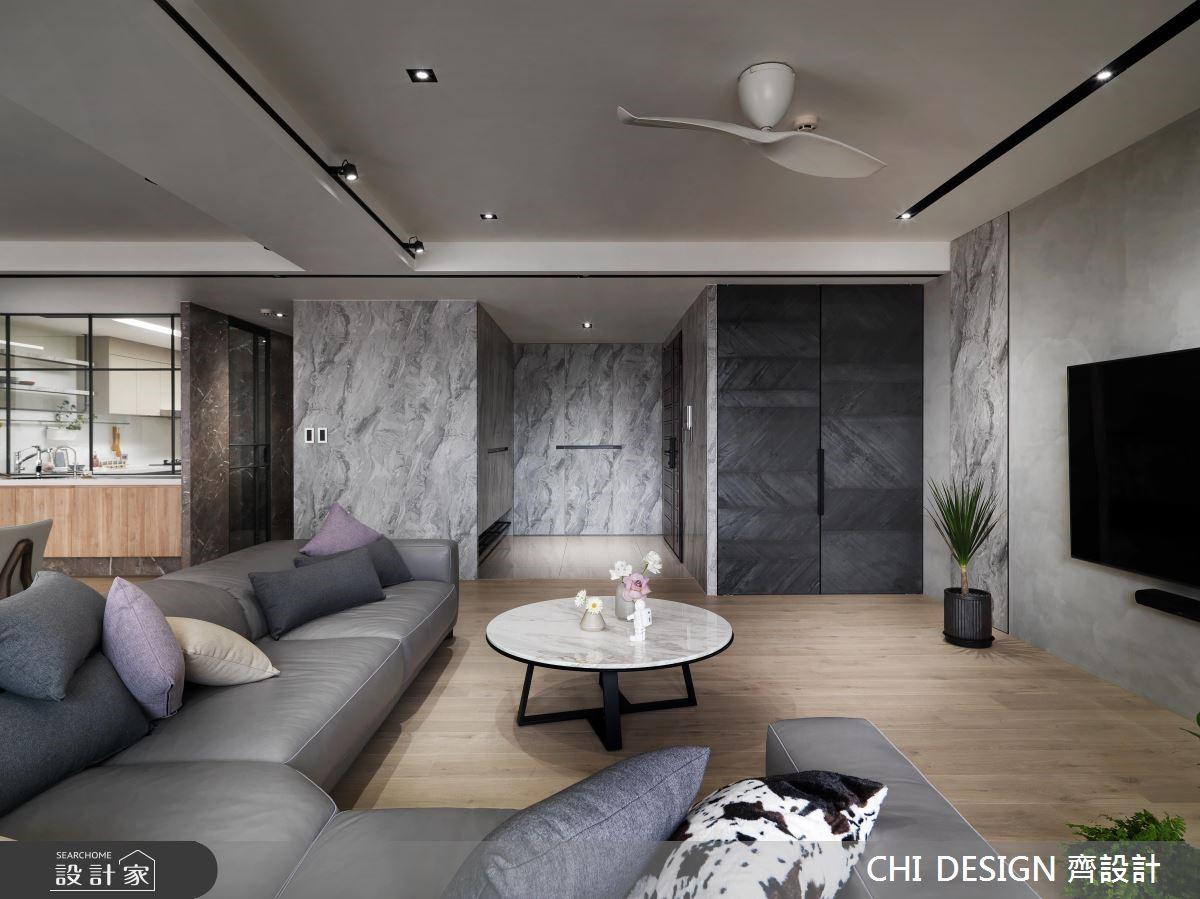 60坪新成屋(5年以下)_現代風玄關客廳案例圖片_CHI DESIGN 齊設計_CHI DESIGN_14之5