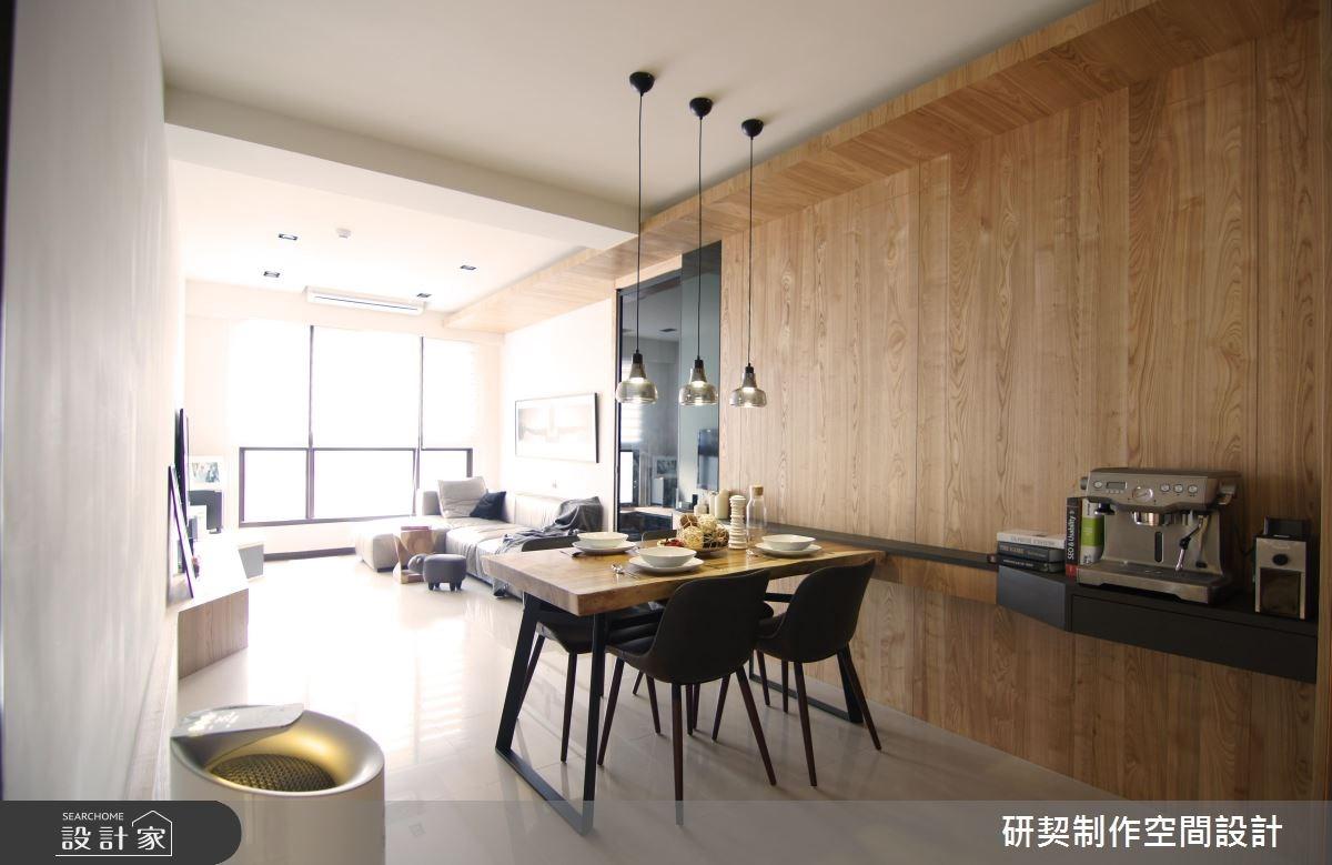 19坪新成屋(5年以下)_現代風客廳餐廳案例圖片_研契制作_研契_02之3