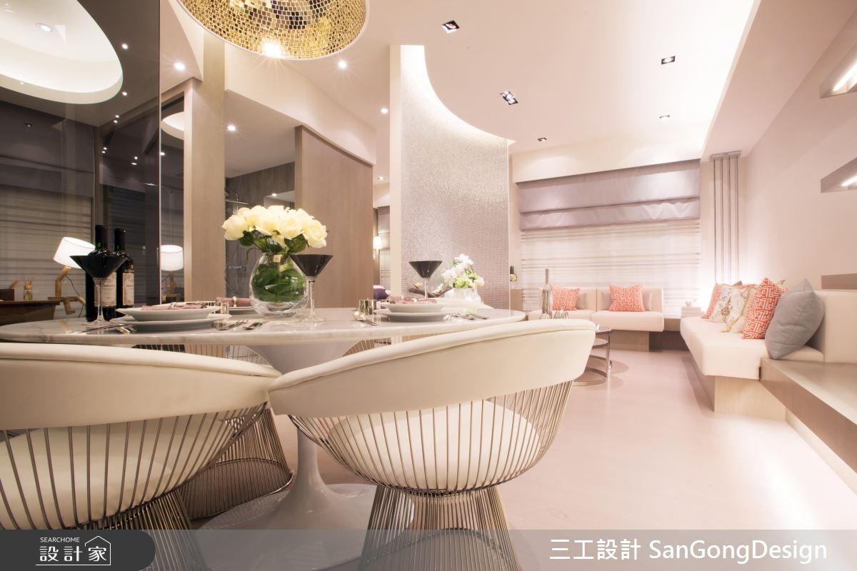 20坪預售屋_混搭風客廳餐廳案例圖片_三工設計 SanGongDesign_三工_02之2