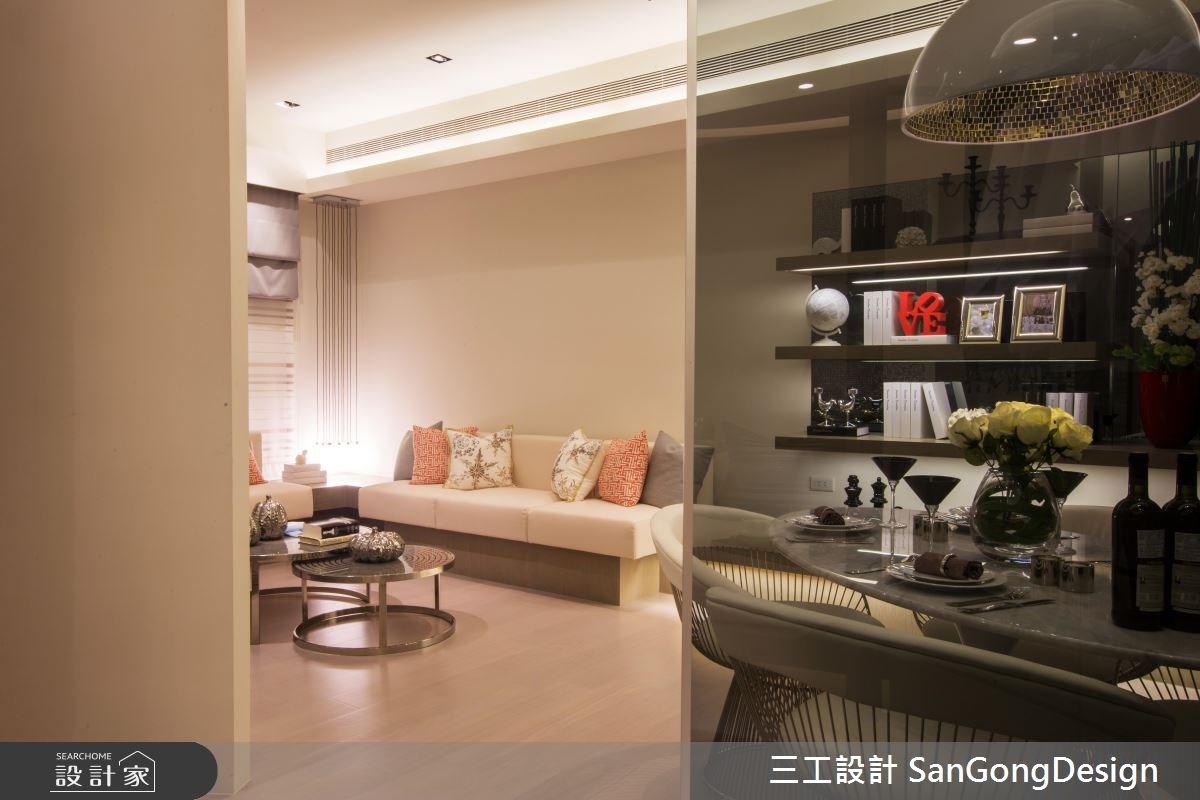 20坪預售屋_混搭風客廳餐廳案例圖片_三工設計 SanGongDesign_三工_02之5