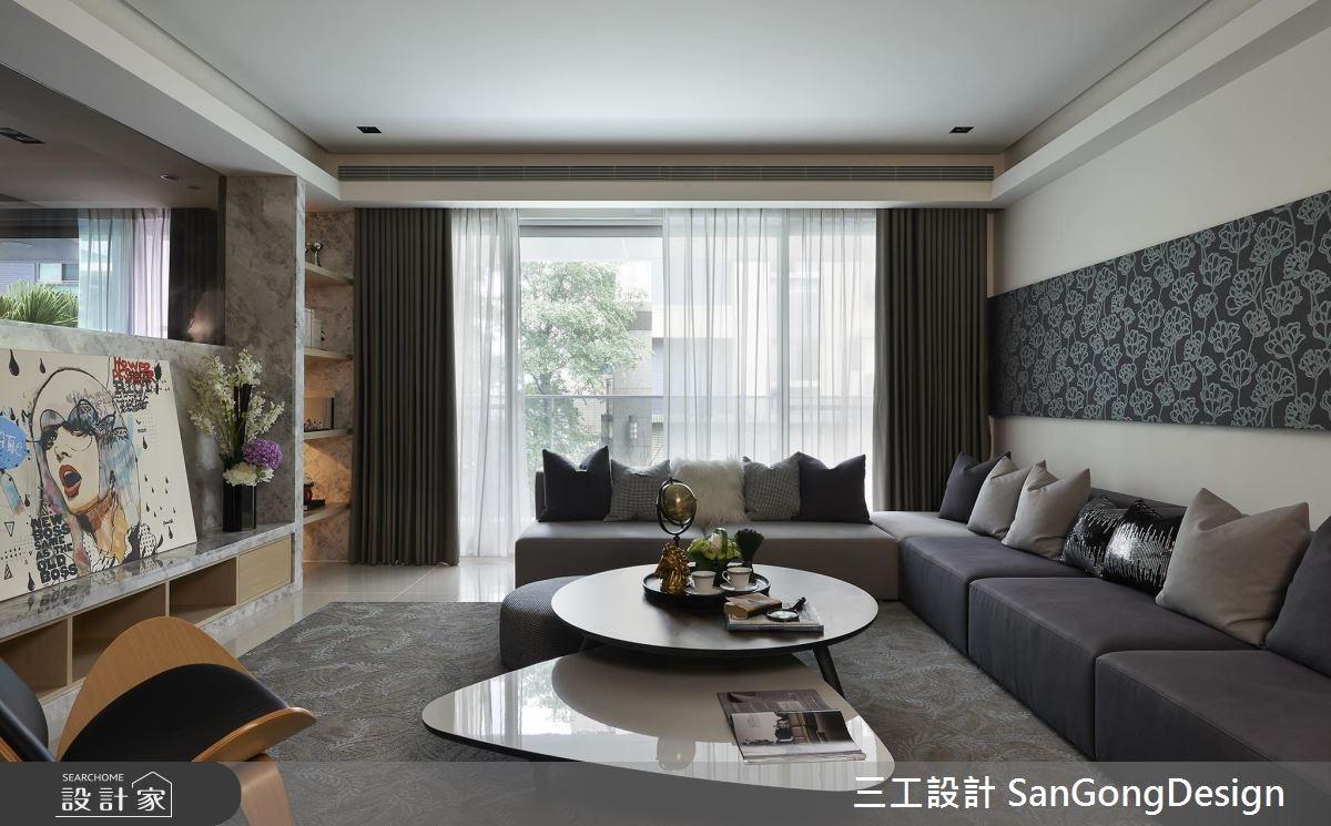 40坪新成屋(5年以下)_混搭風客廳案例圖片_三工設計 SanGongDesign_三工_05之3
