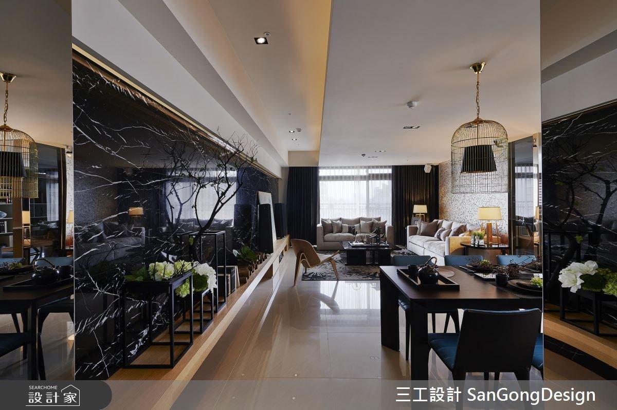 60坪新成屋(5年以下)_混搭風客廳餐廳案例圖片_三工設計 SanGongDesign_三工_06之1