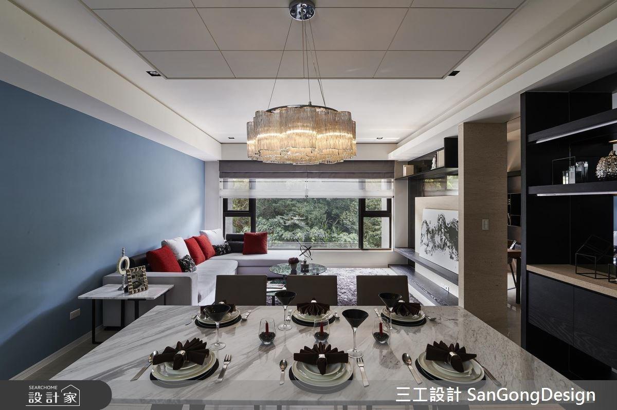 40坪新成屋(5年以下)_混搭風客廳餐廳案例圖片_三工設計 SanGongDesign_三工_07之2