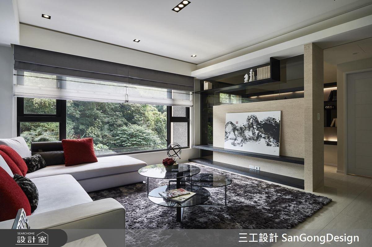 40坪新成屋(5年以下)_混搭風客廳案例圖片_三工設計 SanGongDesign_三工_07之4