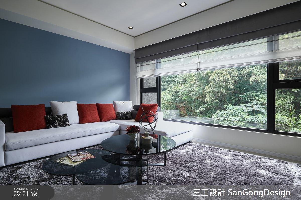 40坪新成屋(5年以下)_混搭風客廳案例圖片_三工設計 SanGongDesign_三工_07之8