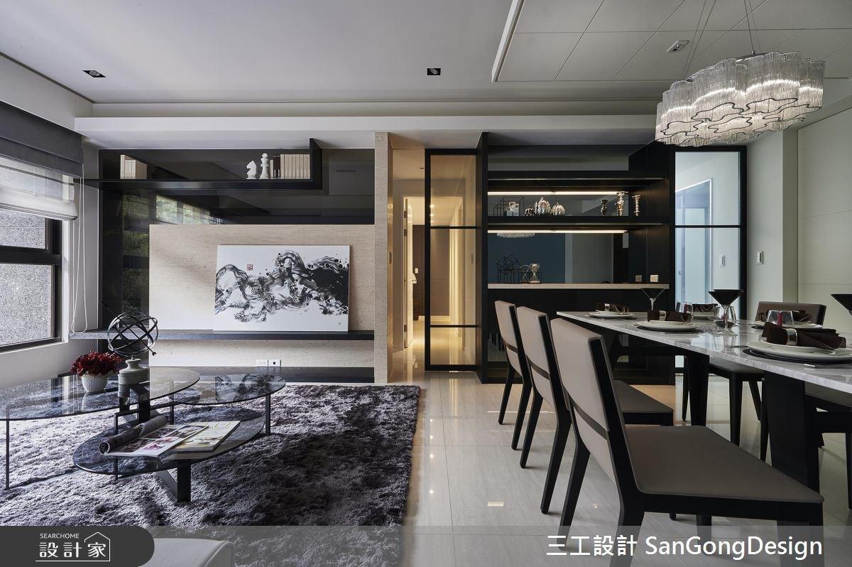 40坪新成屋(5年以下)_混搭風客廳餐廳案例圖片_三工設計 SanGongDesign_三工_07之10
