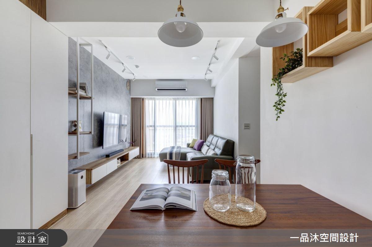18坪新成屋(5年以下)_現代風客廳餐廳案例圖片_一品沐空間設計_一品沐_16之4
