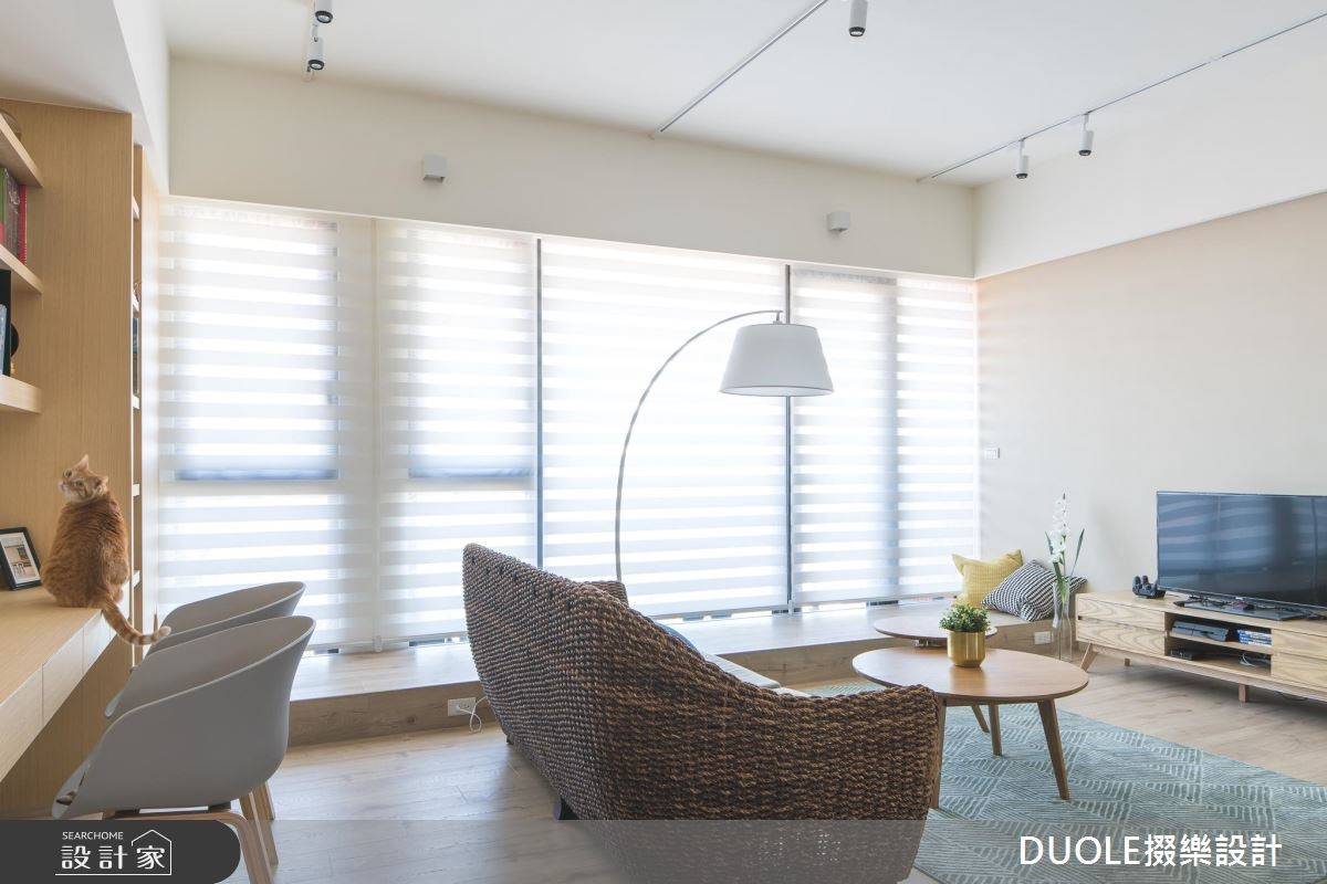 26坪新成屋(5年以下)_休閒風客廳案例圖片_DUOLE掇樂設計_掇樂_02之4
